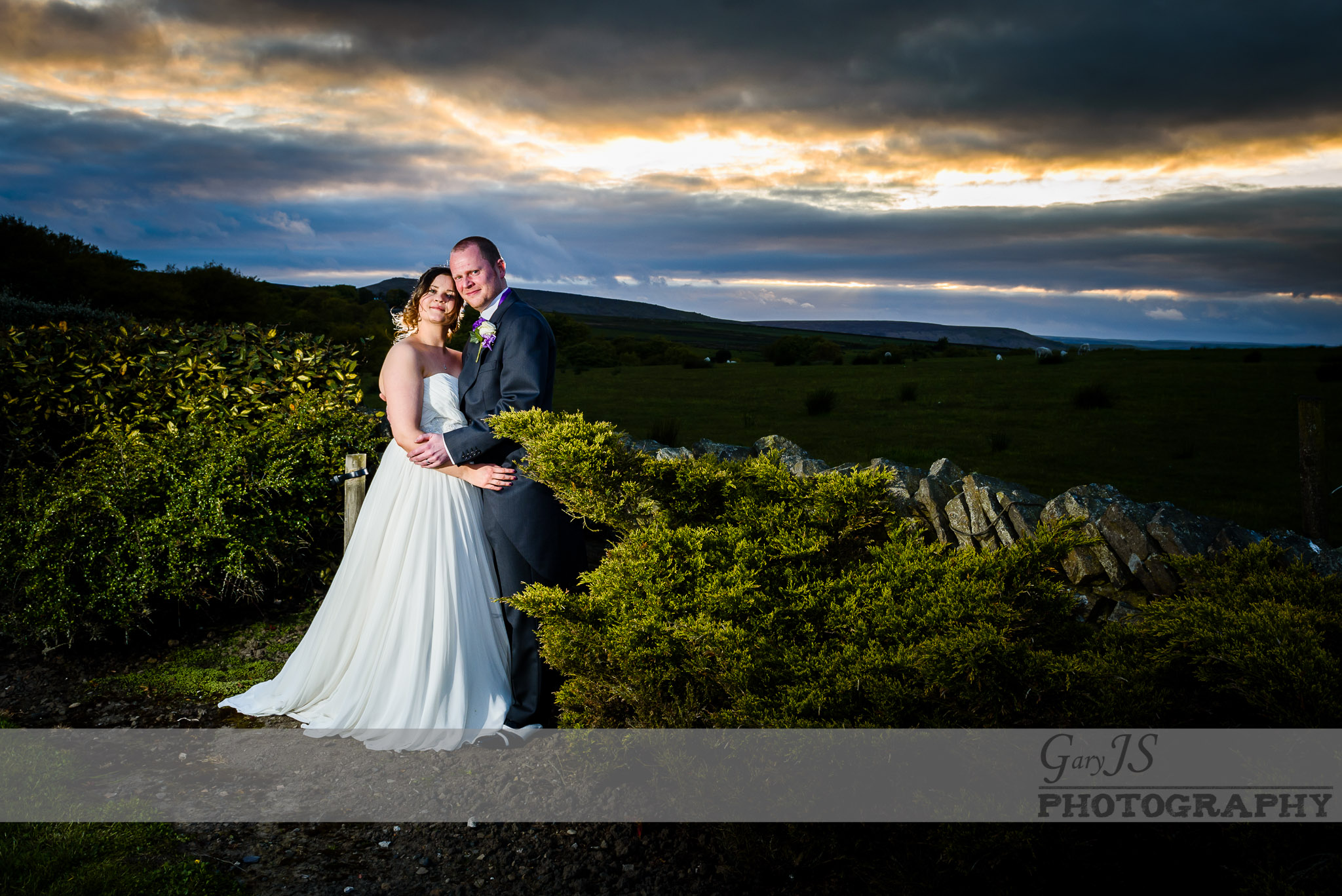 Huntsman wedding photography near Holmfirth